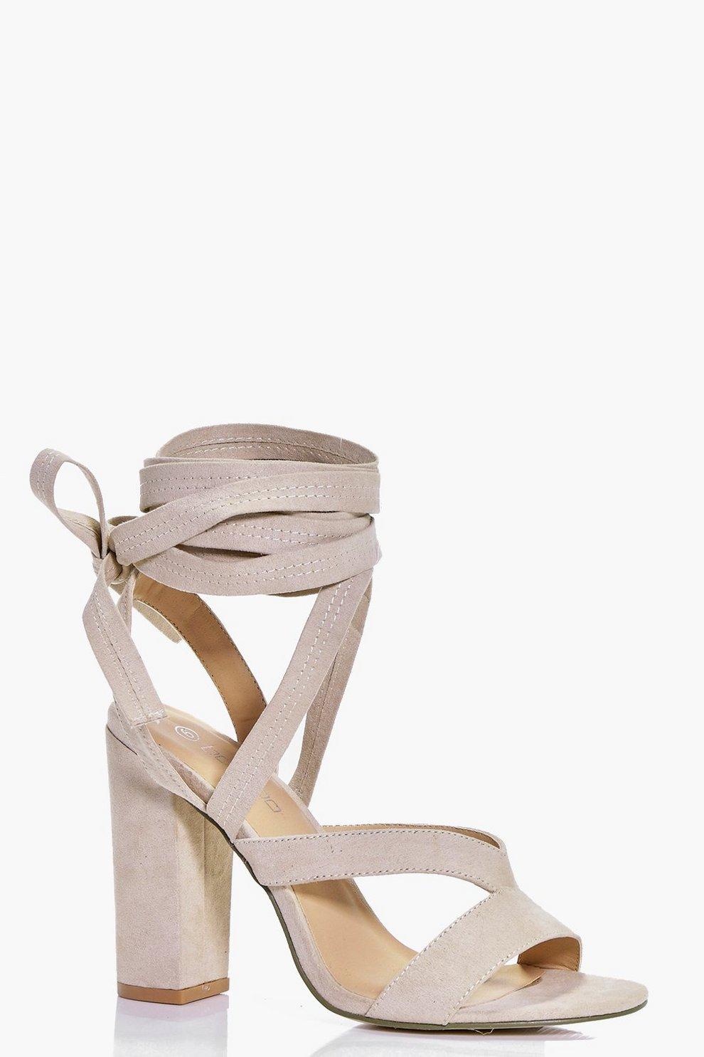 c08f2a1a627 Block Heel Wrap Strap Heels