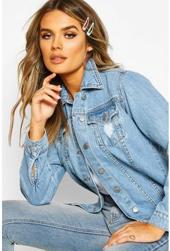 Womens Oversized Denim Boyfriend Jacket