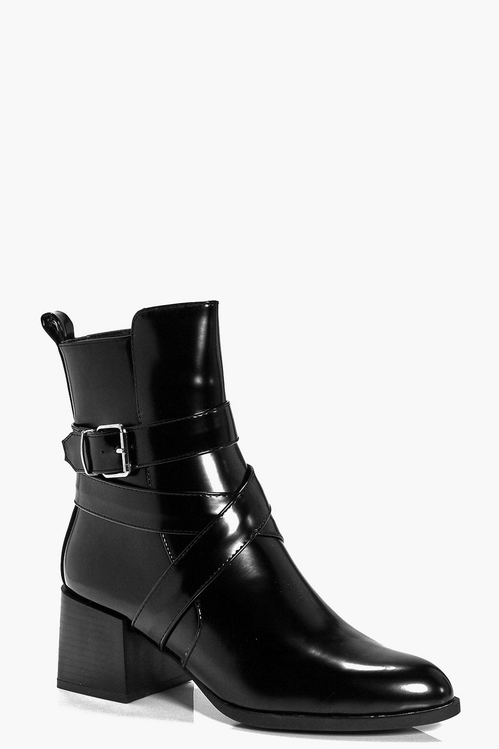 44bd7fb9e2 Lucy High Ankle Block Heel Boot | Boohoo