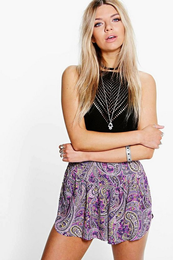 Hannah Tailored Paisley Shorts