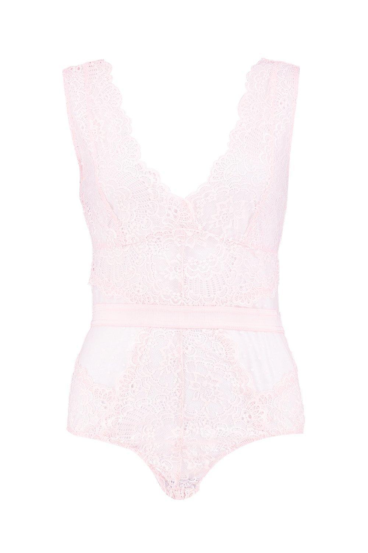 Rosa pálido Body boutique de encaje wqcqn4Yp
