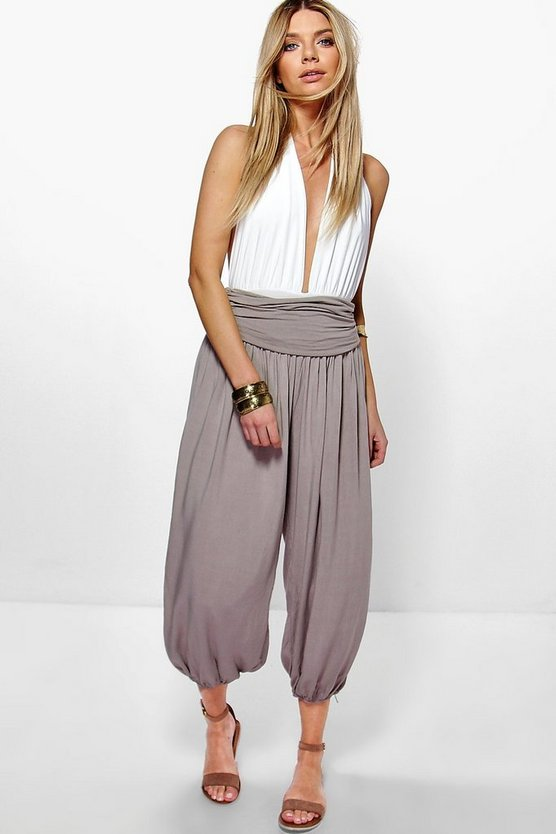 Imani Turn Back Waist Slouchy Jersey Trousers