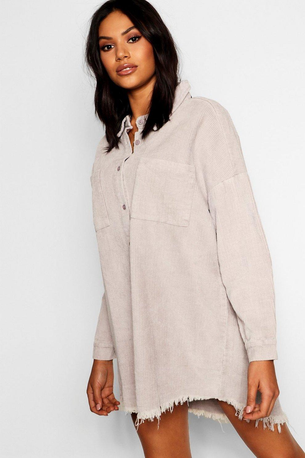 ce4ebe01c5b Raw Edge Oversized Cord Shirt