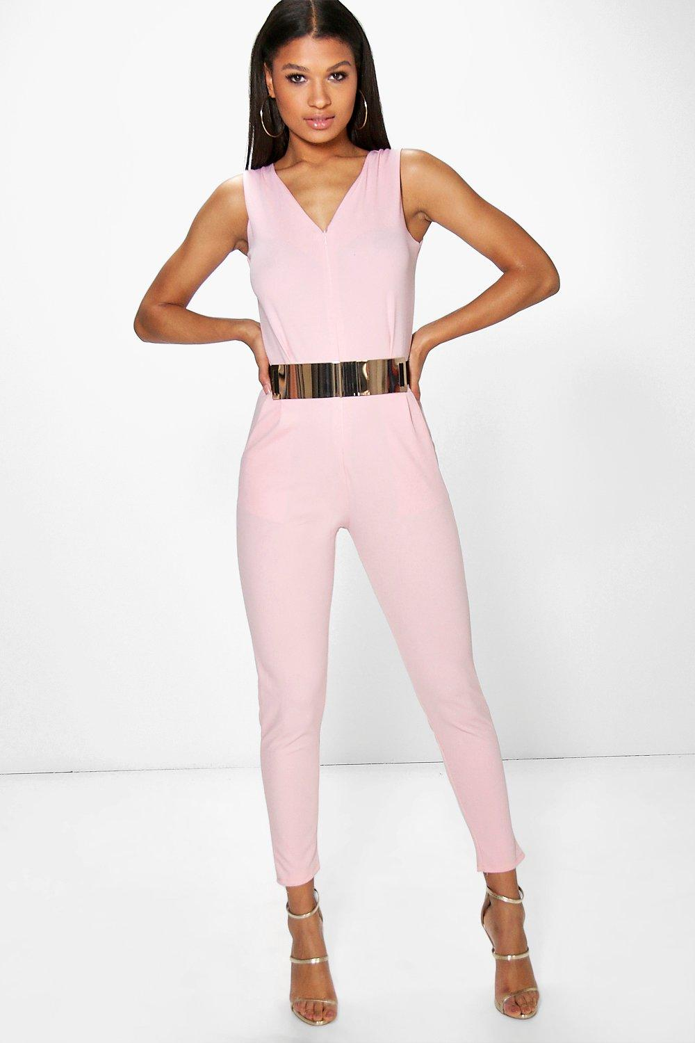 62d47443d3be Lila Tailored Stretch Jumpsuit. Hover to zoom