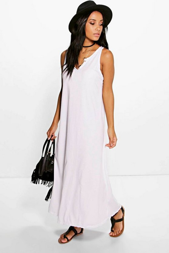 Melinda Button Front Maxi Dress