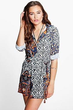 Ashlee Paisley Print Shift Dress
