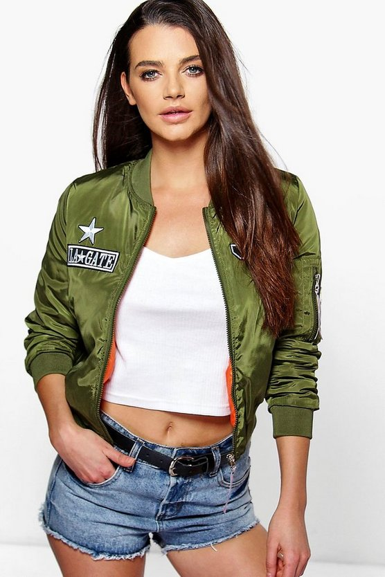 Lucy Badge Bomber Flight Jacket