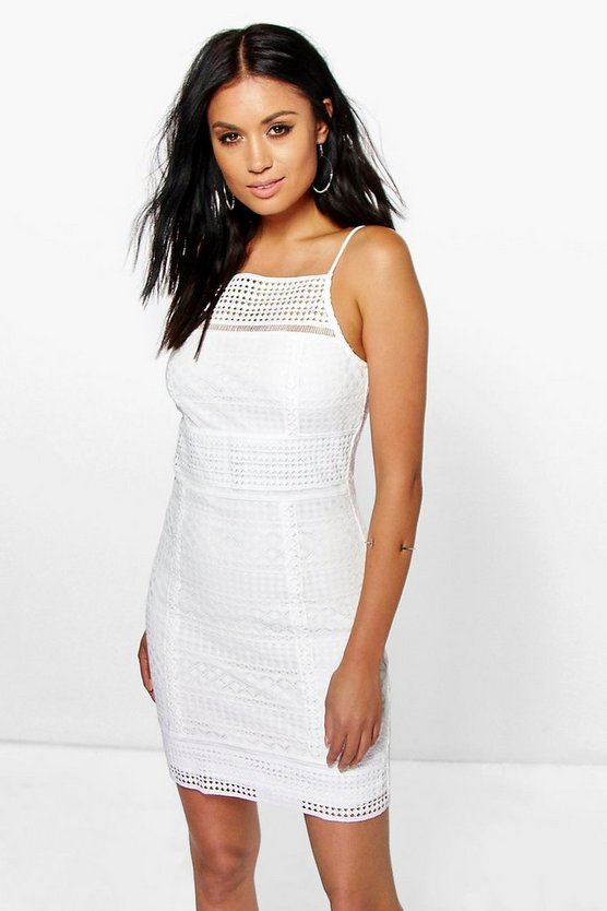 Ella Panelled Lace Bodycon Dress