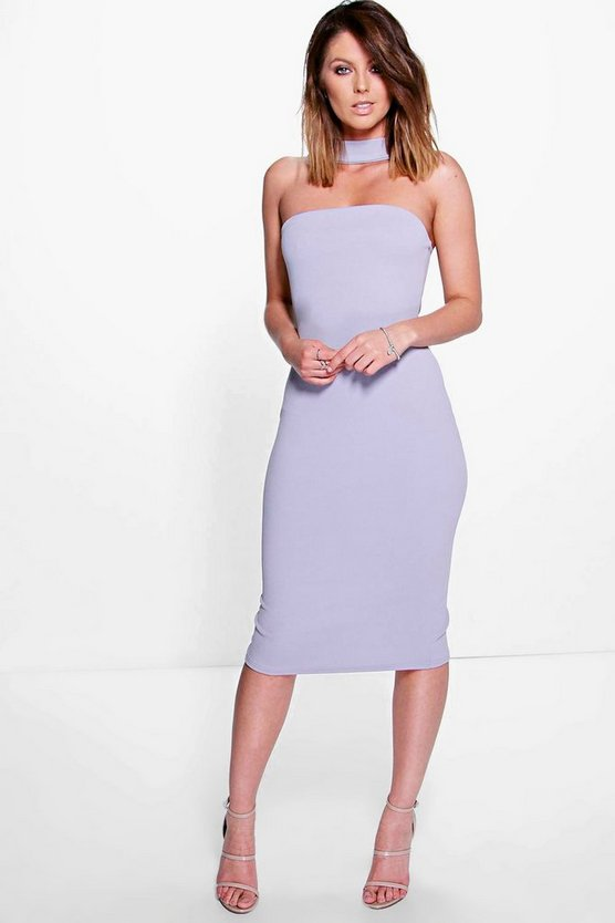 Ottavia Neck Strap Midi Bodycon Dress