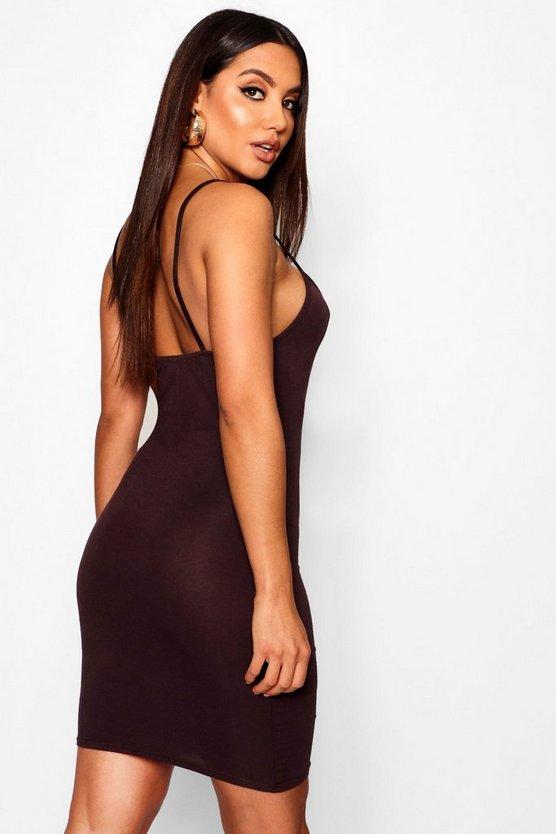 Basic Strappy Cami Bodycon Dress