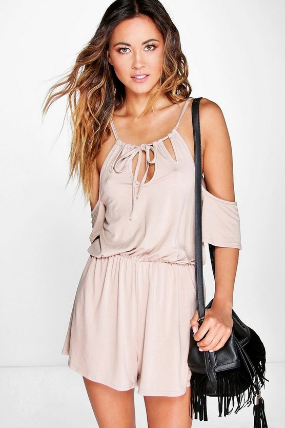 Rose Cut Shoulder Playsuit