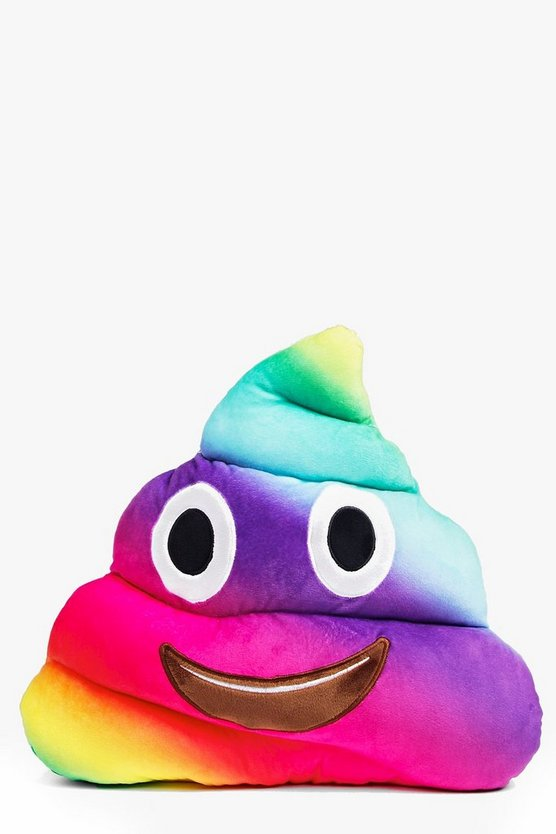 Ombre Rainbow Emoji Poo Cushion