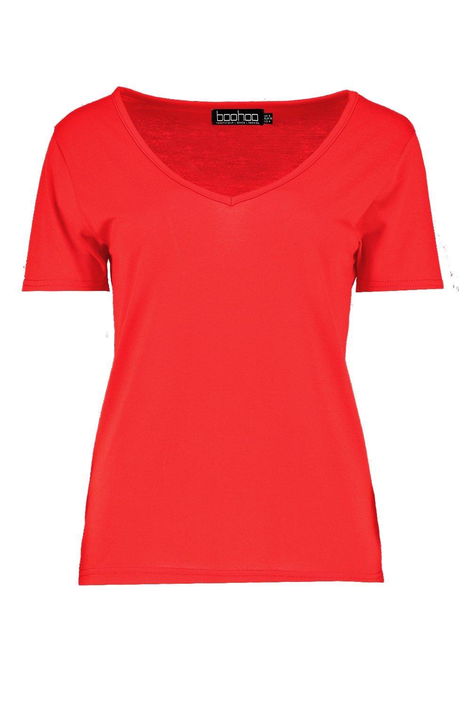 ac4fee685df Boohoo Womens Basic Supersoft V Neck T-Shirt