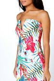 9099122c63 ... Daria Tropical V Plunge Bandeau Midi Dress alternative image