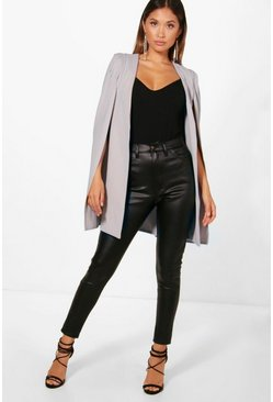 Dove Longline Tailored Crepe Cape