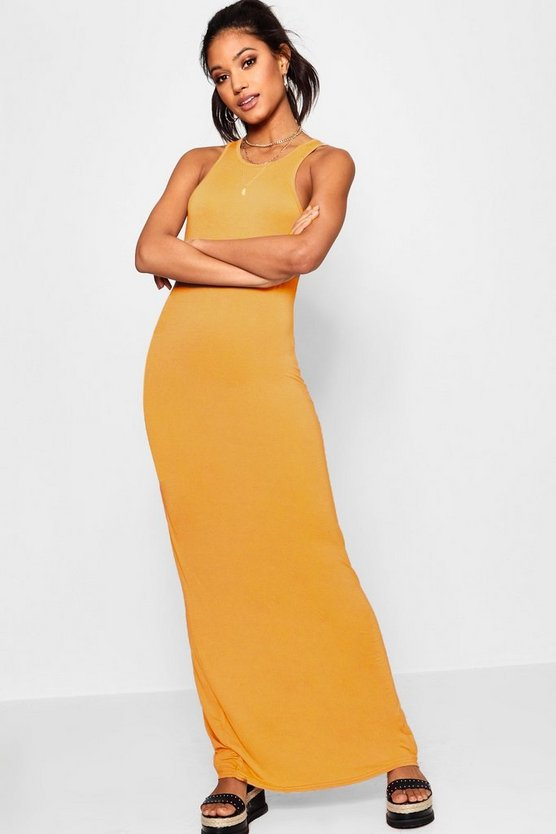 Basic Racer Front Maxi Dress