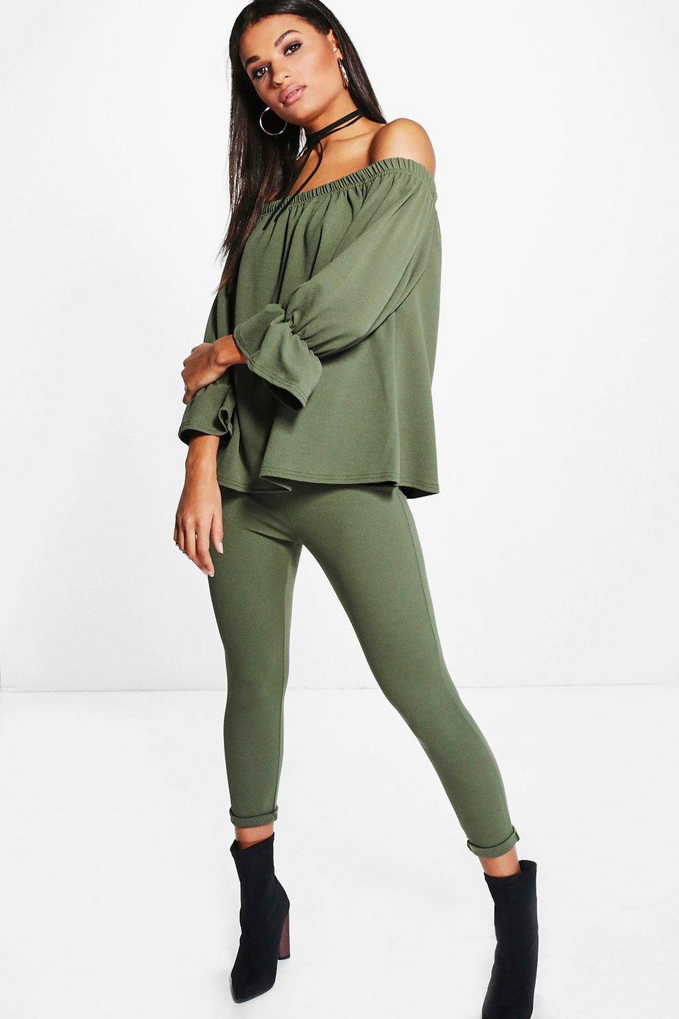 0f83c6b3cb44b1 Lia Off Shoulder Top   Skinny Trouser Co-Ord Set