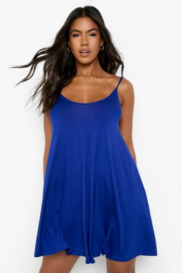 Womens Cobalt Basic Swing Dress
