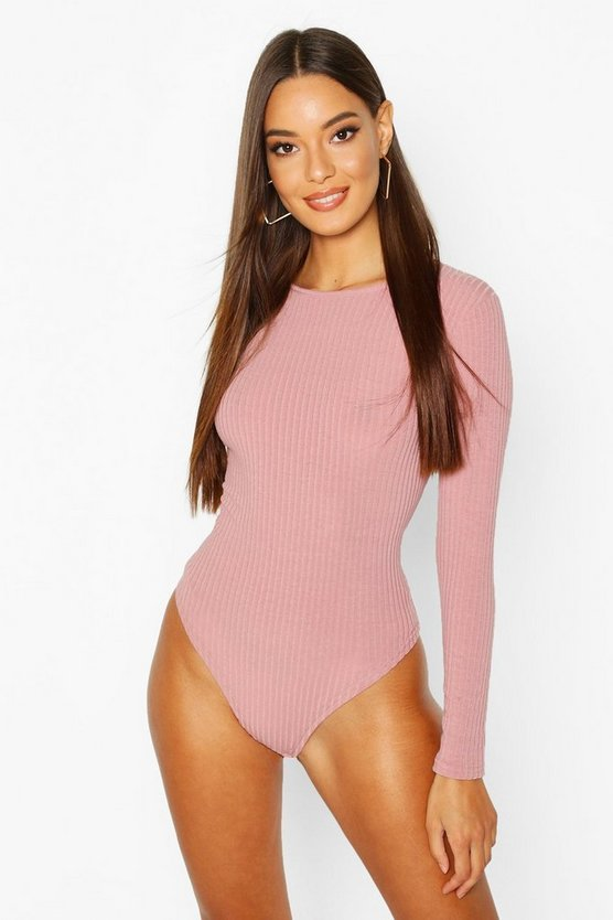 Crew Neck Knitted Bodysuit
