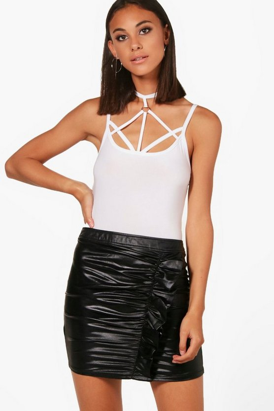 Strappy Front Ring Detail Bodysuit