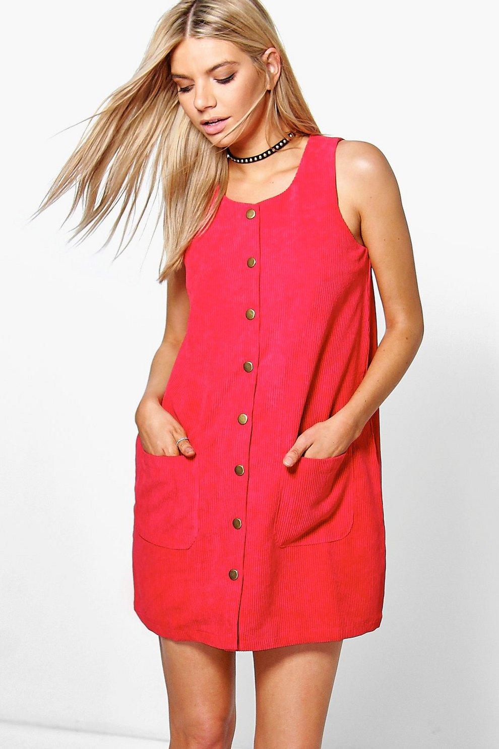 de617d3b408 Louise Button Through Cord Pinafore Dress