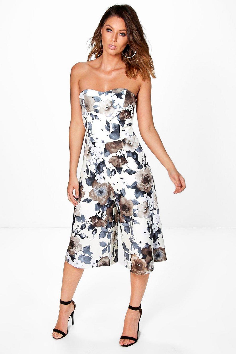 0cc2b460384b Laura Floral Bandeau Culotte Jumpsuit