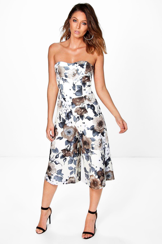 d5acc3681e34 Laura Floral Bandeau Culotte Jumpsuit. Hover to zoom