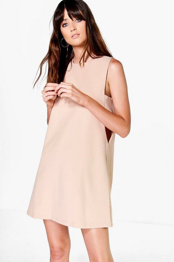 Womens Nude Aria Cut Out Tabard Side Shift Dress