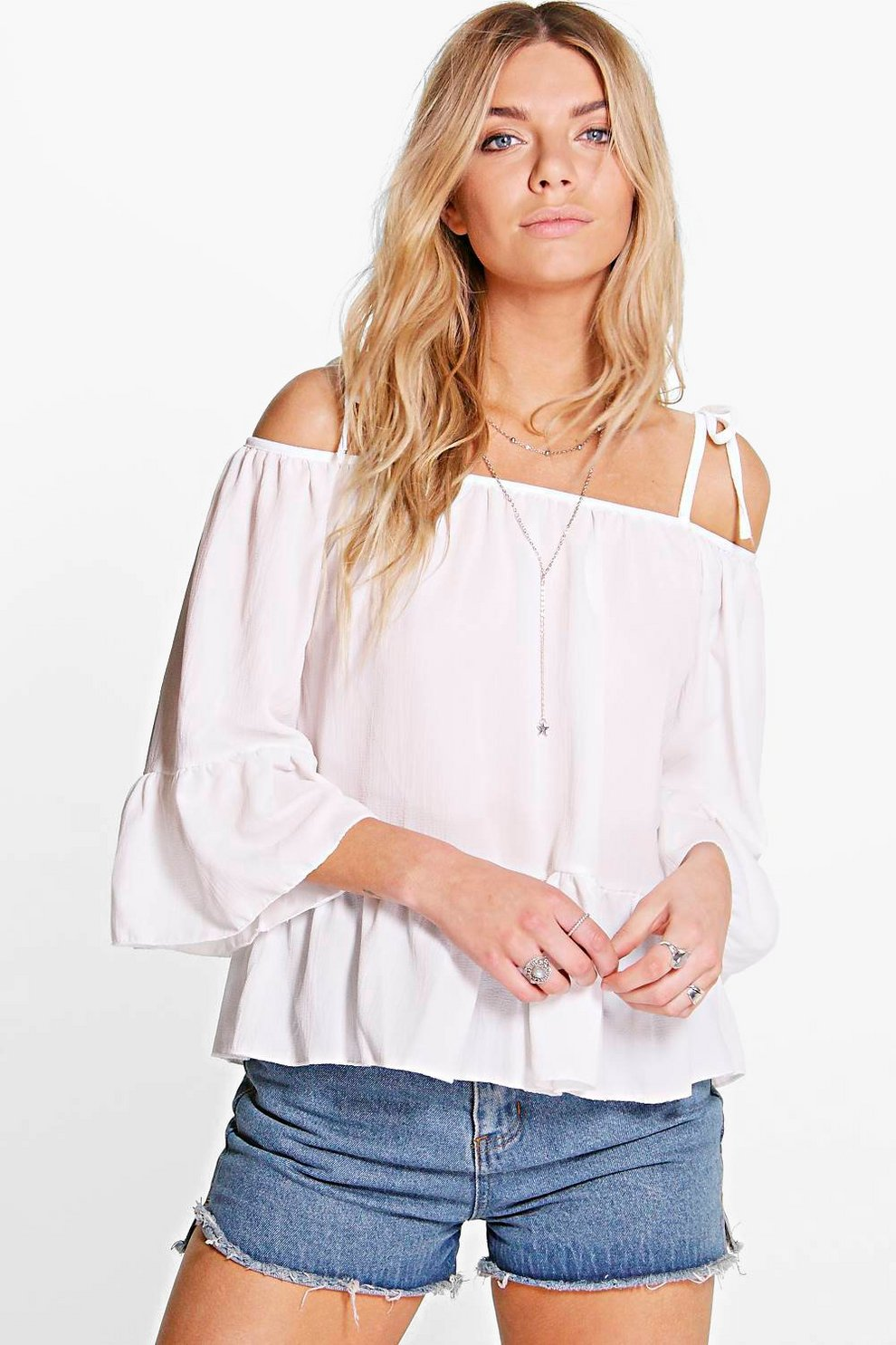 6bd1fe5ed7cb4 Ashley Strappy Off The Shoulder Woven Top