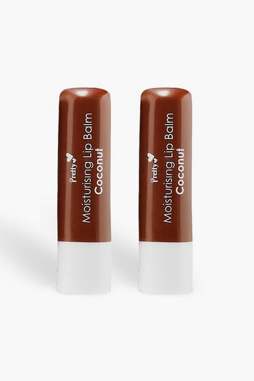 Womens Beige Pretty Smooth 2 Coconut Lip Balms
