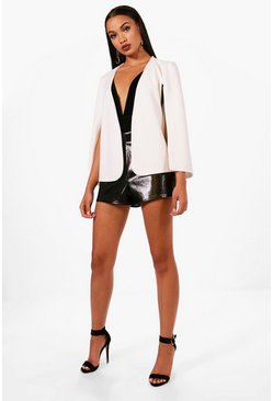 Womens Cream Cape Blazer