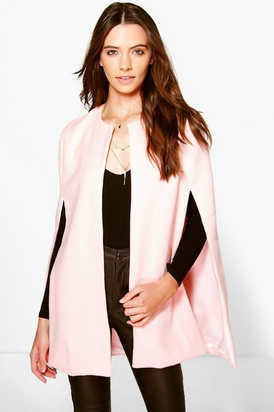 Wool Look Cape Coat