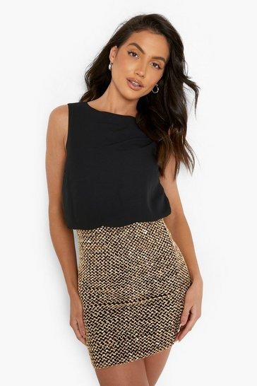22728b40 Sequin Clothing | Sparkly Outfits & Clothing | boohoo UK