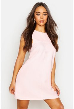 Womens Blush Tab Side Shift Dress
