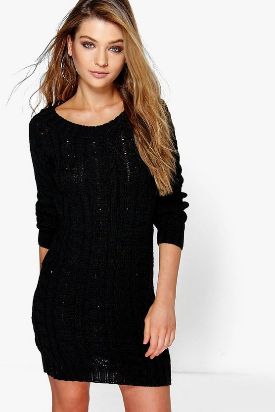 Cable Knit Mini Dress