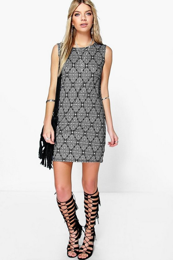 Sleeveless Boho Shift Dress