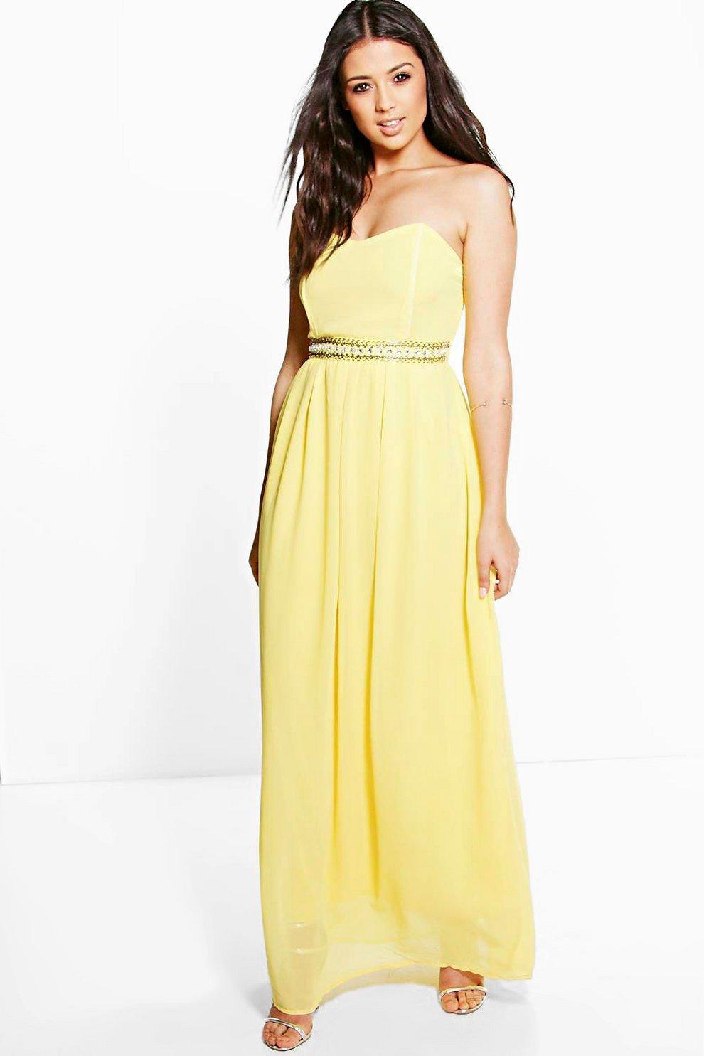cde85917fc1 vestido largo con adornos en la cintura ria boutique