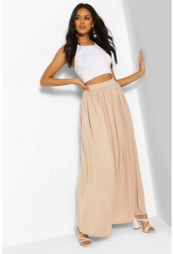 Sand Floor Sweeping Jersey Maxi Skirt
