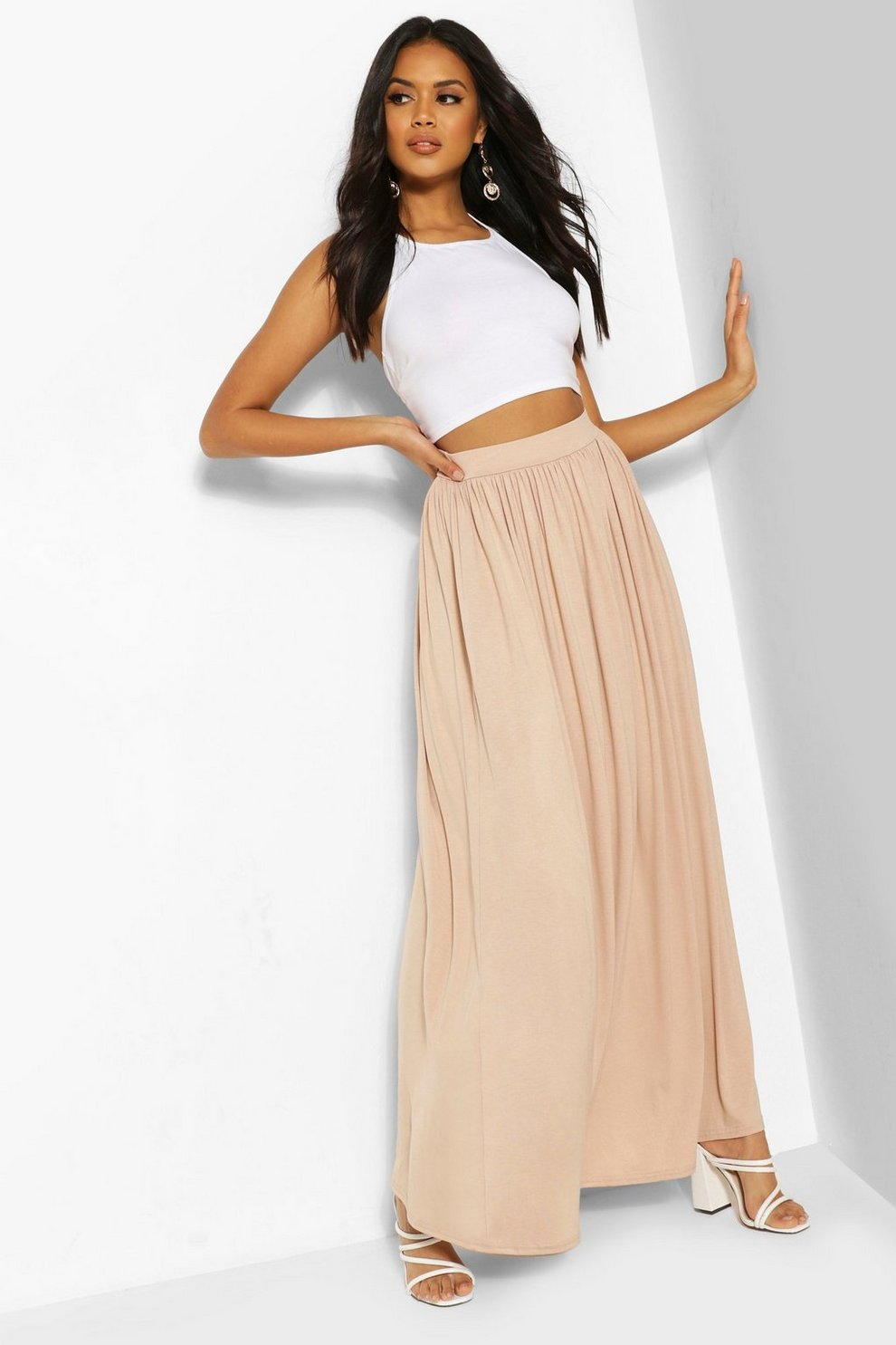 62e5db94dc Floor Sweeping Jersey Maxi Skirt | Boohoo
