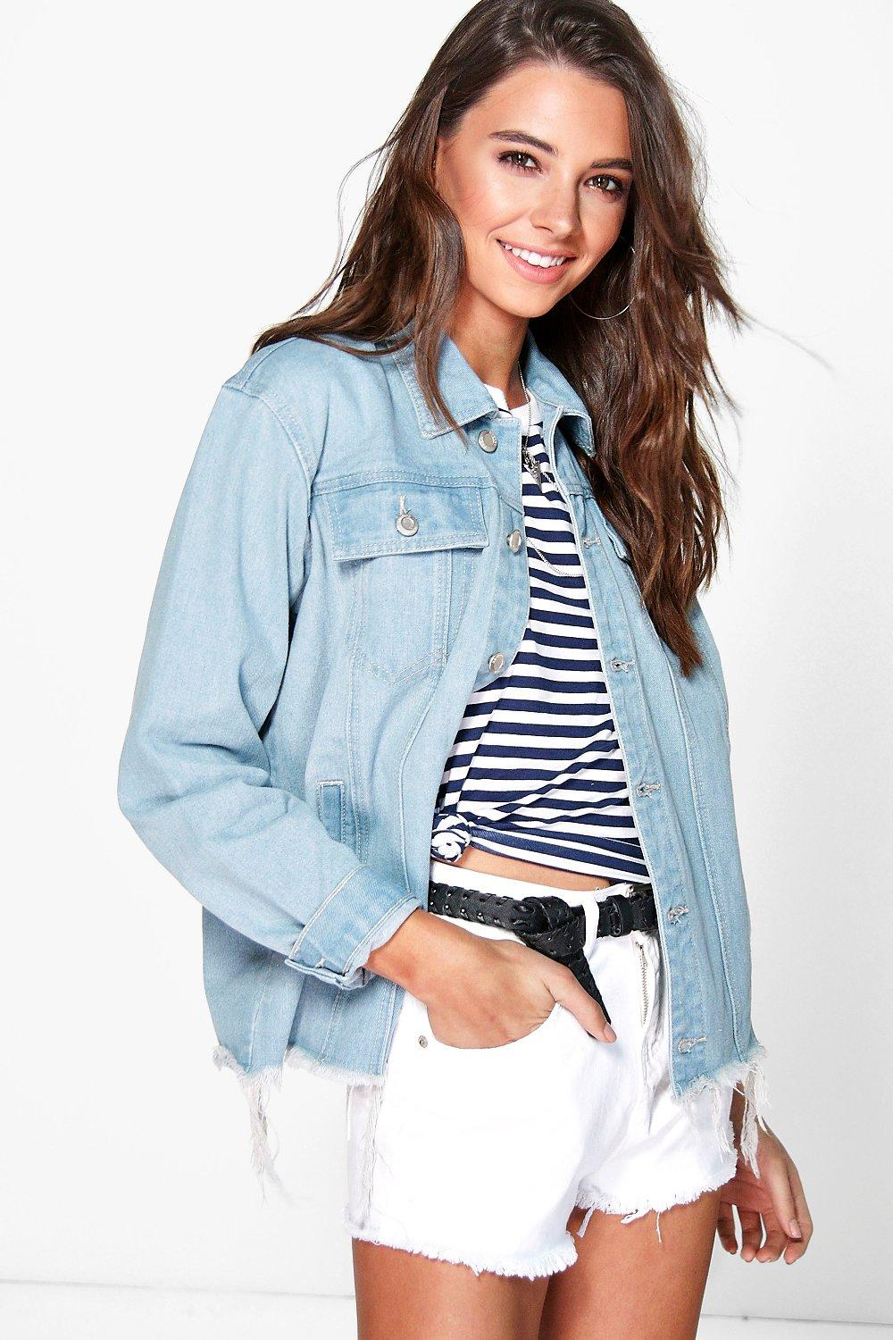 6922380db5b Katie Oversized Distressed Denim Jackets. Hover to zoom