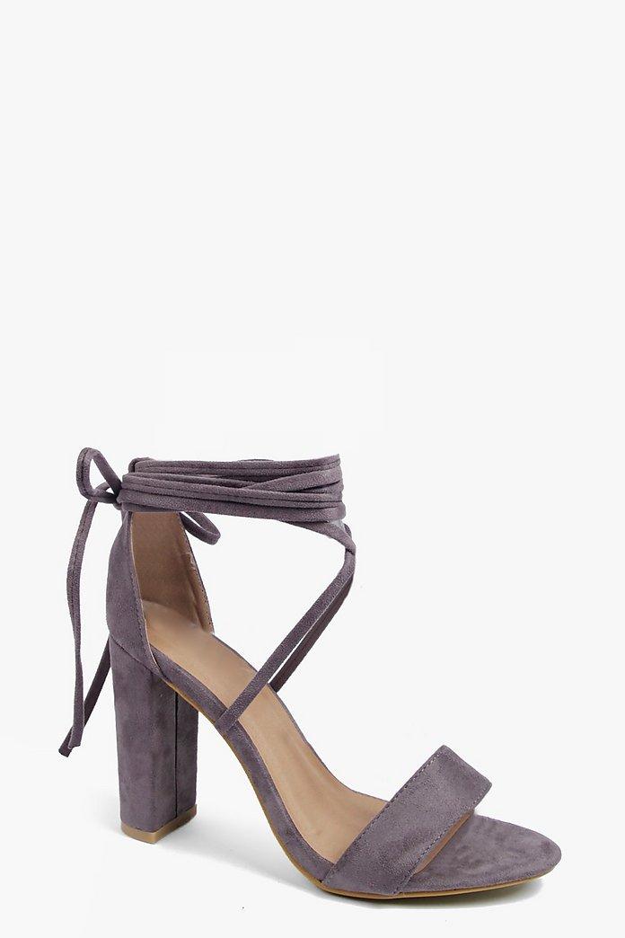 Wrap Strap Two Part Block Heels | boohoo