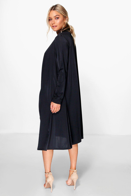 Boohoo-conjunto-de-guardapolvo-y-vestido-elegante-con-cuello-desbocado-darla