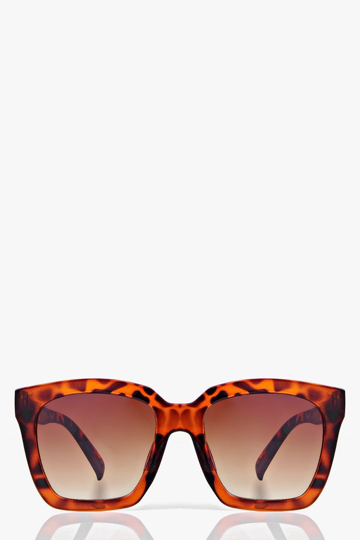 Isla Oversized Square Frame Fashion Glasses | Boohoo