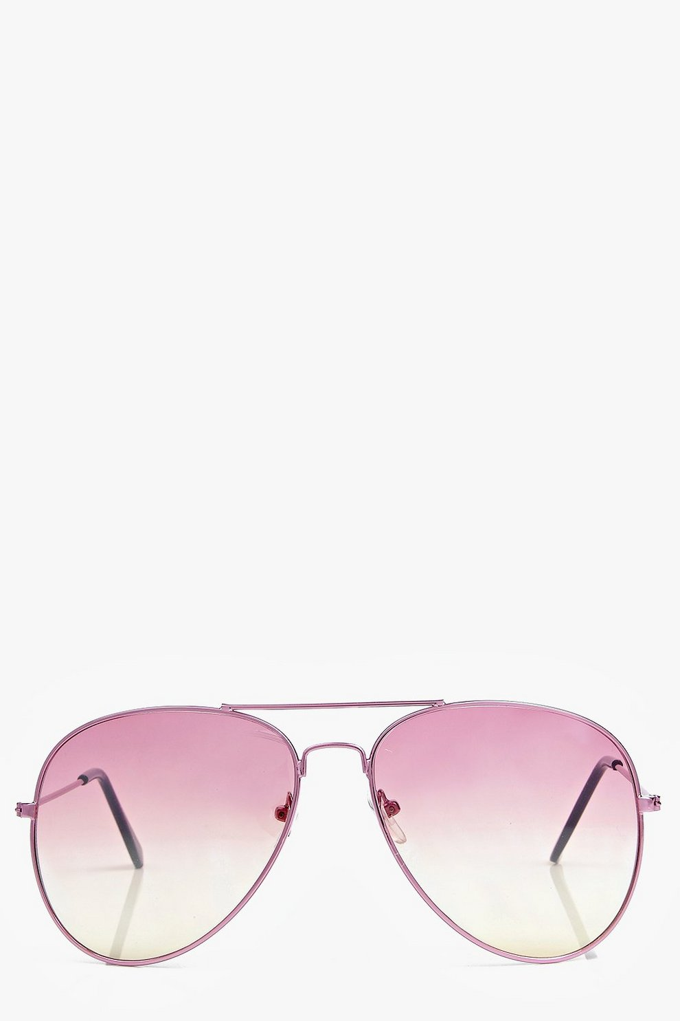 a440372dee2 Pink Ombre Lens Aviator Sunglasses