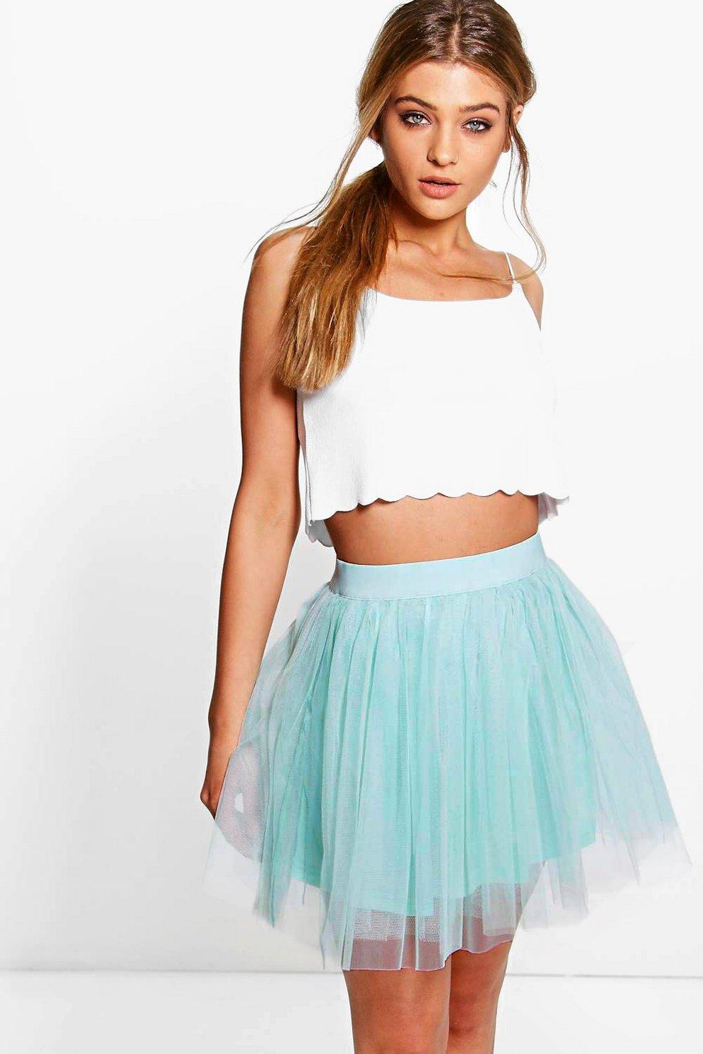 570012d5c5 Zaine Mini Tulle Full Skirt | Boohoo