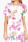 bf9ff5d84492 ... Womens Multi Caroline Floral Cap Sleeve Shift Dress alternative image