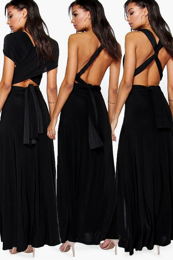 Multiway Side Split Skirt Maxi Dress