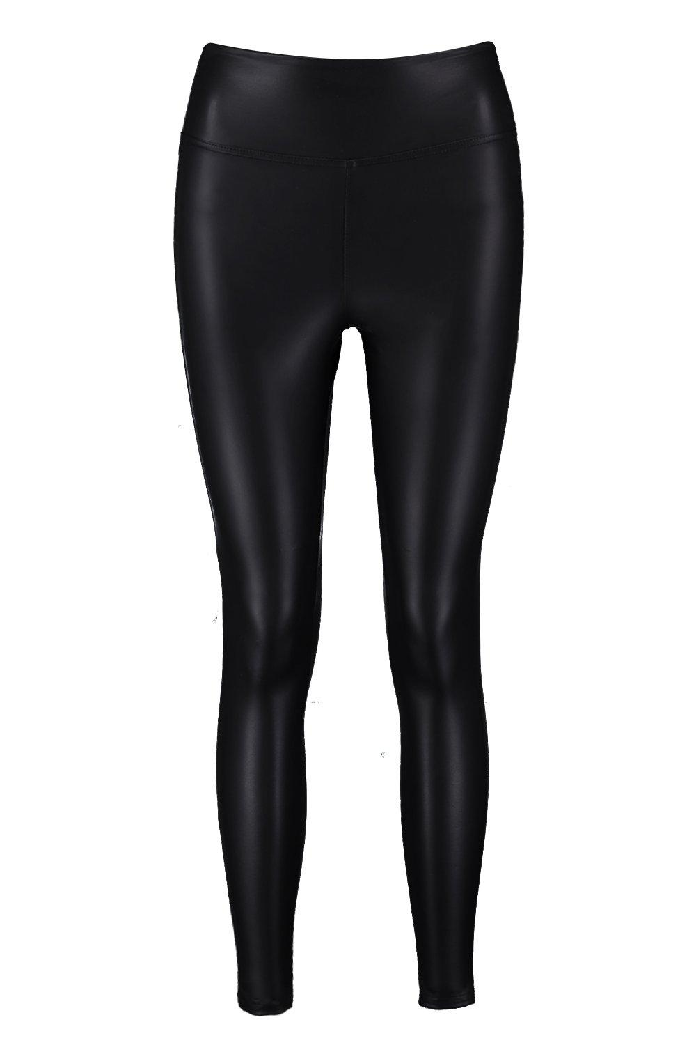 1d40137064a931 Leather Look High Waist Skinny Leggings. Womens Black Leather Look High  Waist Skinny Leggings