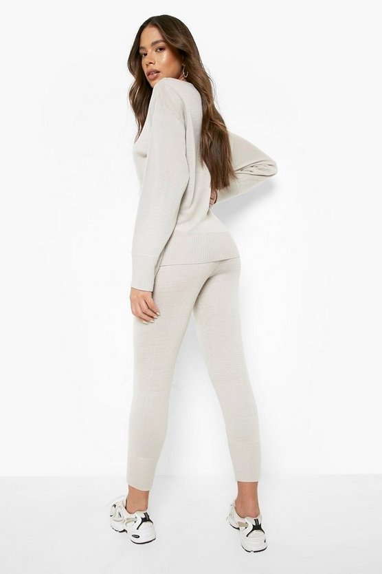 Boutique Heavy Knitted Loungewear Set