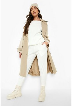 Womens Ivory Boutique Heavy Knitted Loungewear Set